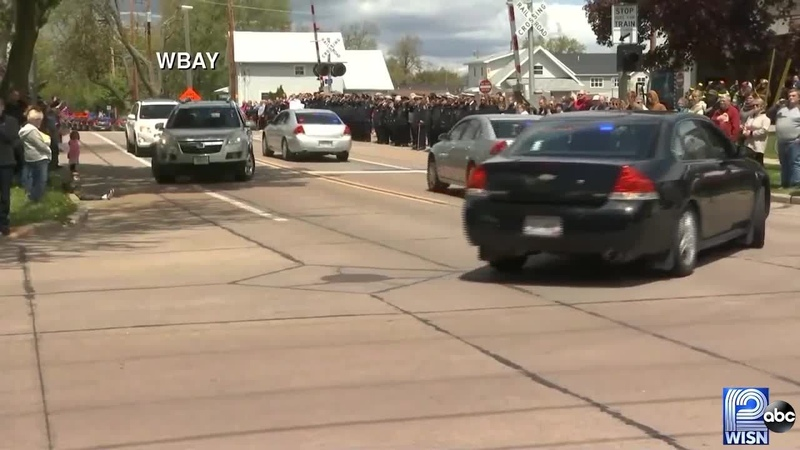 Funeral procession for Appleton Firefighter Mitch Lundgaard