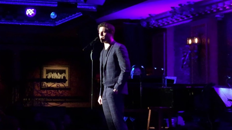Derek Klena @ Feinstein's 54 Below 2 18 2019 Some Kinda Time Go The Distance Out There