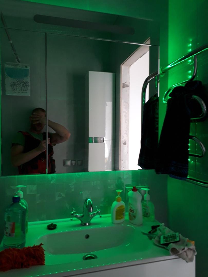 Наша ванная комната. Интересно ваше мнение по поводу подсветки
