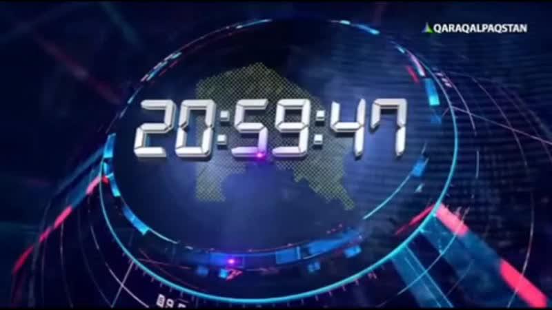 Анонс часы и начало программы Хабар на канале Qaraqalpaqstan Нукус Каракалпакстан Узбекистан 09 2019