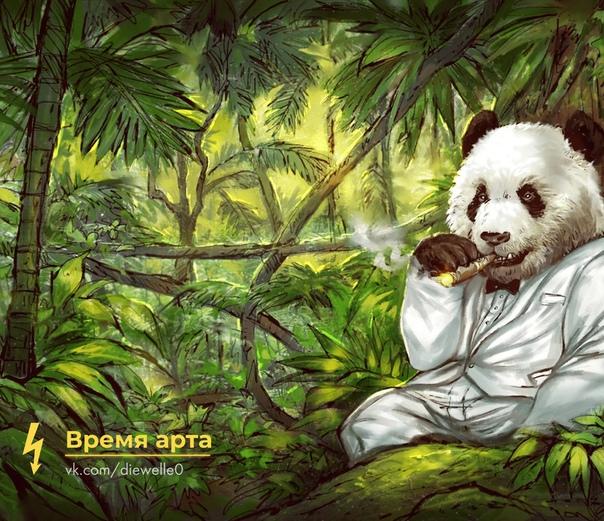 Просто панда. Просто красивый арт. Как в старые-добрые времена. Предлагаю сделать еще кое-что.Кинь в комментарии 1-2-3 любимых арта в хорошем качестве Не обязательно с пандой.Каждый автор знает