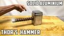 Casting Thor's Hammer from Molten Aluminium Foil Balls Avengers Infinity War Theme