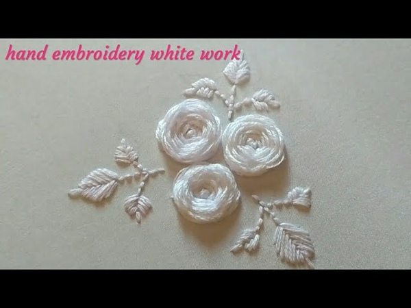 Hand Embroidery White work embroidery designs White embroidery work Вышивка Белая гладь