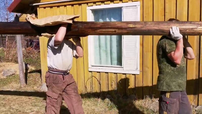 Заливаем фундамент под перегородками Ремонт старого дома Сезон 2 Часть 3 День 38