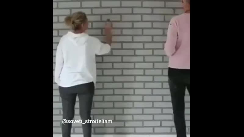 Декор в квартире своими руками под кирпич