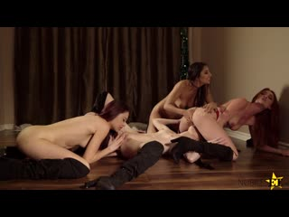 Gianna Dior, Lacy Lennon, Mackenzie Moss, Sabina Rouge My Step Sisters Are Mean Girls - Porno, Lesbian Sex Foursome