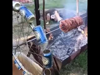 Отличное изобретение для жарки шашлычка -