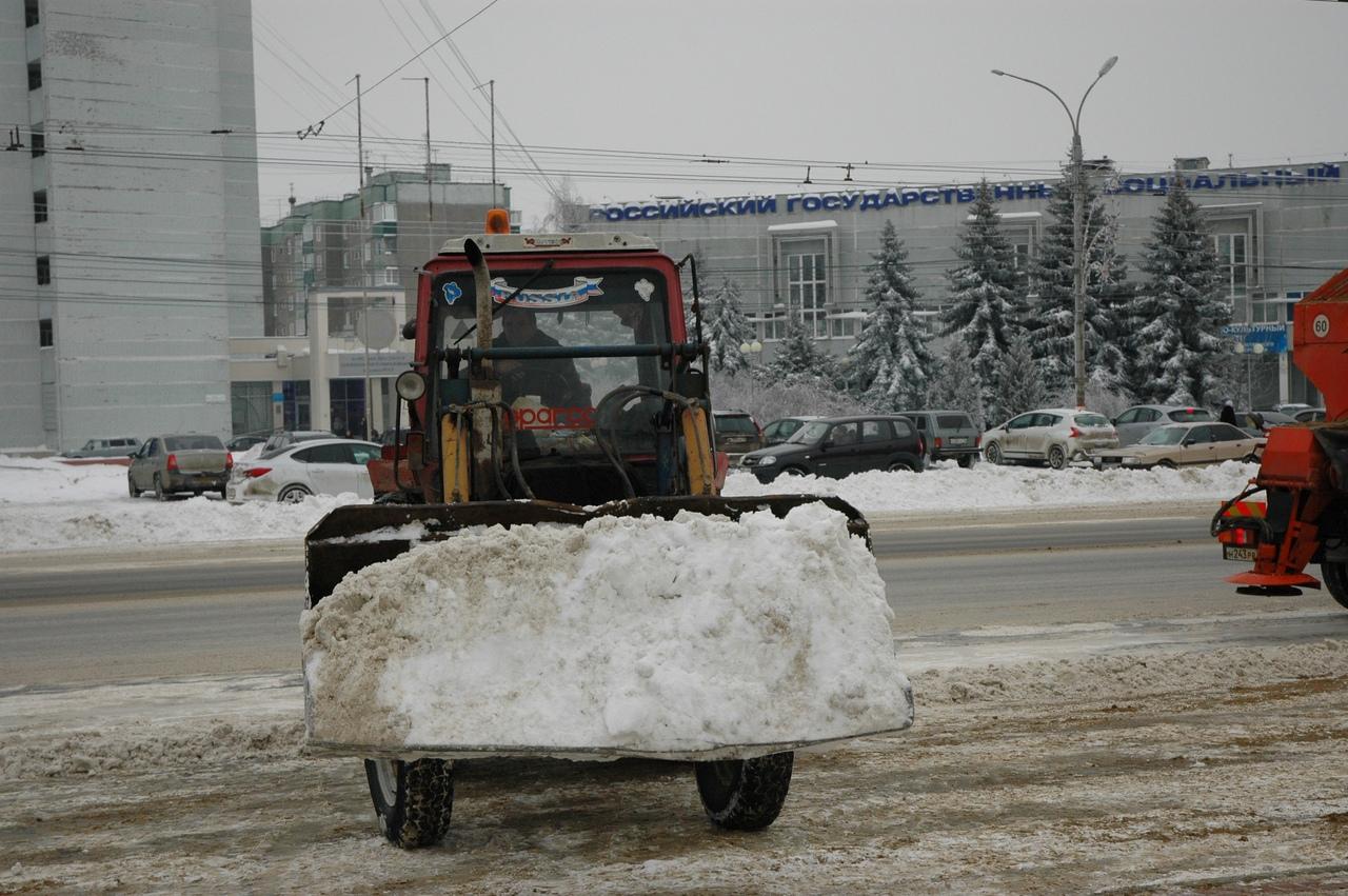 Снег в Курске будут складировать на 11 площадках