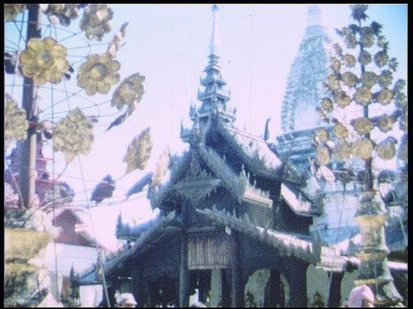 Flight to Bagan, Birma, Myanmar, in 1970