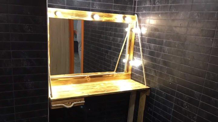 Зеркало для макияжа с подсветкой из паллет от cemaL AÇAR