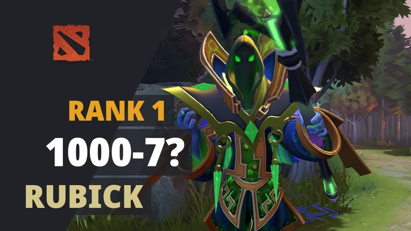 1000 7 Rank 1 plays Rubick Dota 2 Full Game
