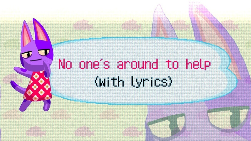 No One's Around To Help WITH LYRICS Animal Crossing New Horizons Song Musical