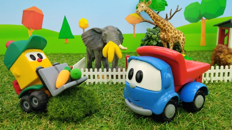 Leo y Lifty en el zoo Juguetes de dibujos animados de Leo el Camión en español Vídeos para niños