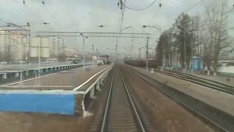 От Киевского вокзала до ст Малоярославец в кабине ЭД4М
