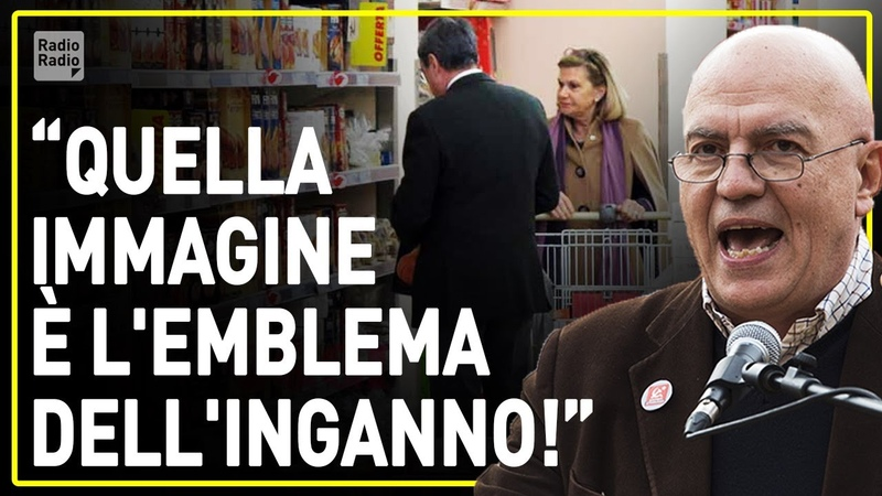 MARCO RIZZO FURIOSO IN PIAZZA ▷ Foto di Draghi al supermercato è un inganno! Non è chi raccontano