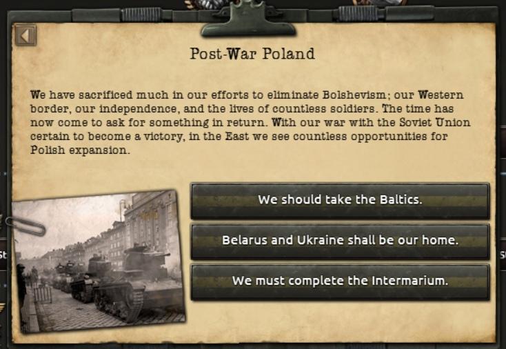 Дневник разработчиков Hearts of Iron IV — Изменение древа фокусов Польши, часть 2, изображение №24