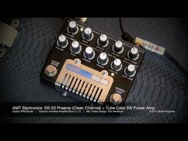 AMT Electronics SS 20 Preamp and Tube Cake Power Amp PRS Studio
