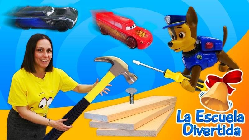 Los juguetes Rayo McQueen y la Patrulla Canina La Escuela Divertida Vídeos para niños