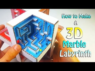 How to Make a 3D Marble Labyrinth Game from Cardboard