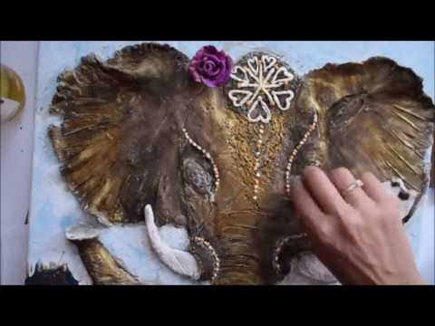 Das Air Drying Clay Acrylic Pour Fluid Painting Ganesha Modelling With Clay Jasvir Kambo