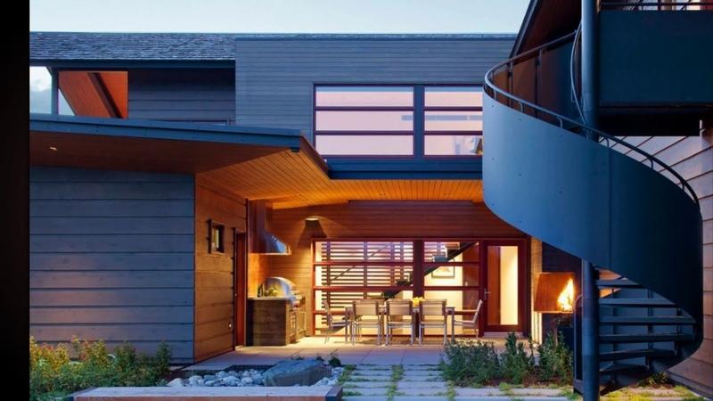 Лучшая Винтовая лестница на второй этаж в частном доме Интересные дизайнерские решения идеи и дизайн