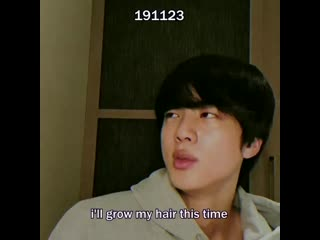 a comprehensive evolution of jins long hair from nov 2019 to april 2020