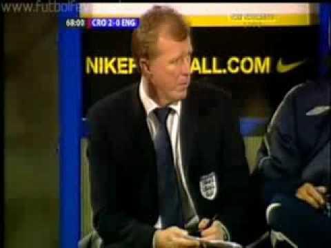 Отбор на Евро 2008 Хорватия 2 0 Англия Робинсон