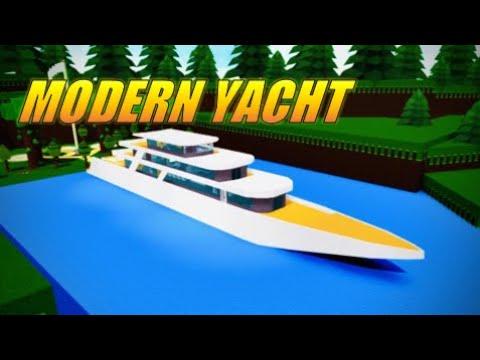 Micro ship Modern yacht speedbuild Roblox Build a Boat for Treasure Episode 16