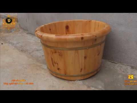 [Review] Mẫu Chậu ngâm chân gỗ thông nhập khẩu - Đồ Gỗ Đọi Tam ☎ 0971.009.886