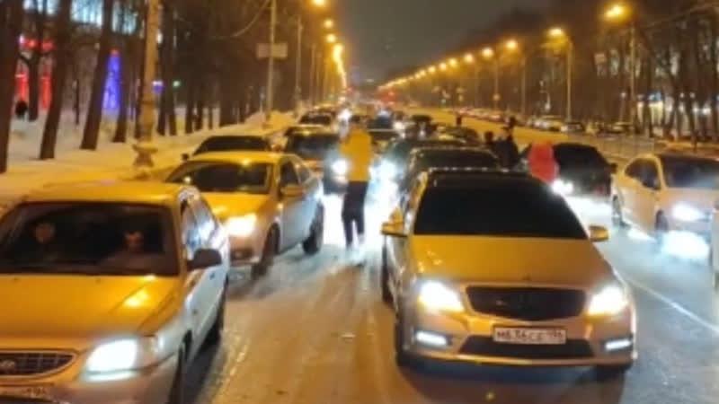 Последователи Давидыча блокировали проспект