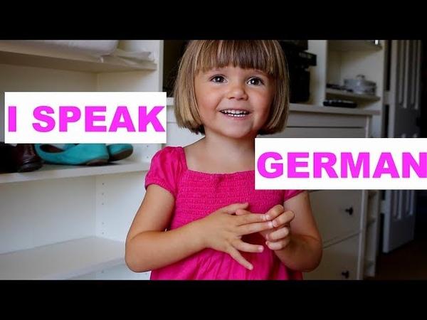 3-jähriges Kind aus den USA spricht Deutsch - 3-year old speaking German - BILINGUAL TODDLER