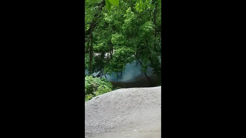 травят комаров в балке Рябинина