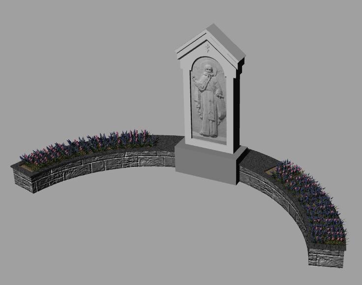 Эскизный проект памятника преподобному Антонию Сийскому на его родине в Кехте