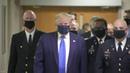 Coronavirus la première apparition publique de Donald Trump portant un masque
