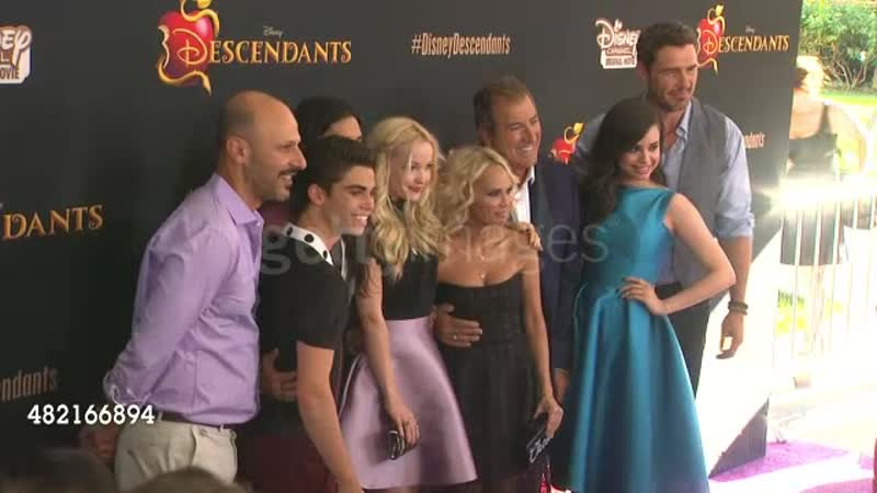 Cast and crew of Disney's Descendants at the Disney's Descendants Los Angeles Premiere