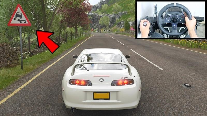 Forza Horizon 4 Drifting Toyota Supra (Steering Wheel Shifter) Gameplay